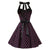 Vintage Hepburn Halter Pink Polka Dot  Black Party Dress