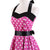 50s Retro Rockabilly Halter Polka Dot Pink Prom Dress