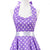 Vintage Rockabilly Polka Dot Purple Evening Dress