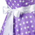 50s Gorgeous Sleeveless Polka Dot Purple Prom Dress