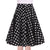50s White Polka Dot Print Retro Black Skirt