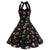 Vintage 1950s Retro Halter Flower Print Dress