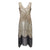 Women's 1920s Flapper Costume Fringe Beaded Gatsby Party Dress
