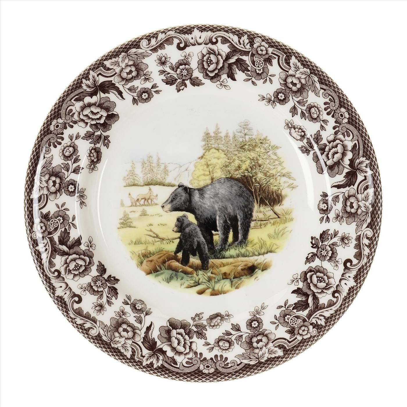 Woodland Salad Plate Black Bear
