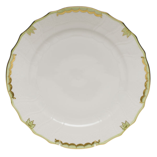 Princess Victoria Dinner Plate Green