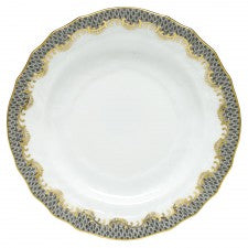 Fish Scale Bread and Butter Plate Gray