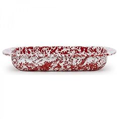 Baking Pan Swirl Red