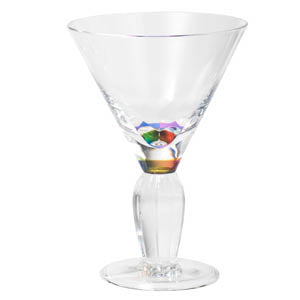 Crystal Rainbow Martini Glass