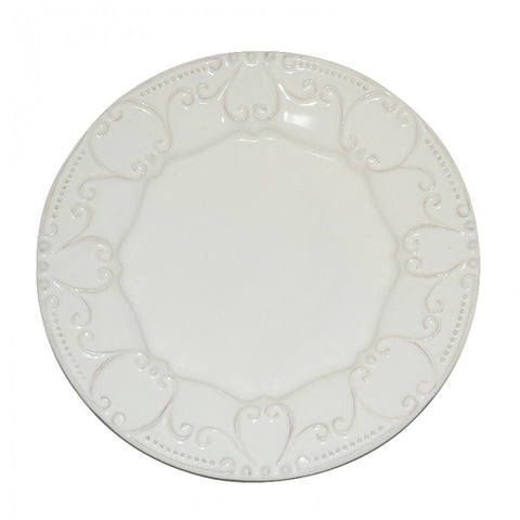 Isabella Salad Plate - Ivory