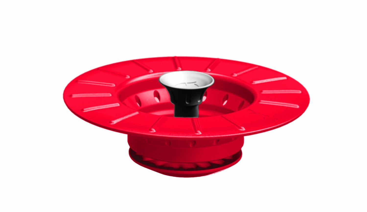 Collapsible Stopper & Strainer-Chili