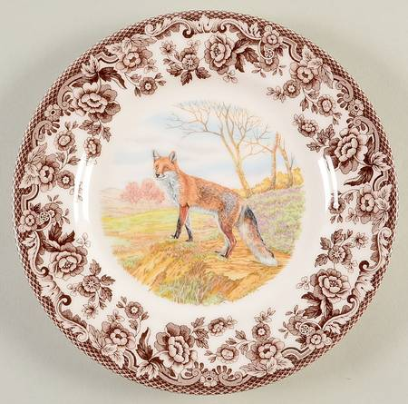 Woodland Salad Plate Red Fox