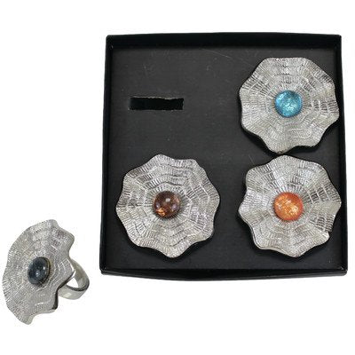 Cher Napkin Ring Set/4 Assorted