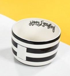 Black Stripe Happy Everything Big Bowl