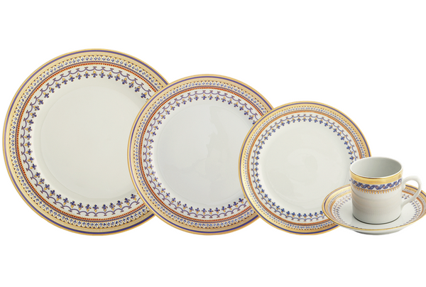 Chinoise Blue 5 Piece Setting