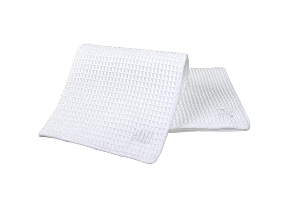 Microfiber Waffle Dishcloth Set of 3 White