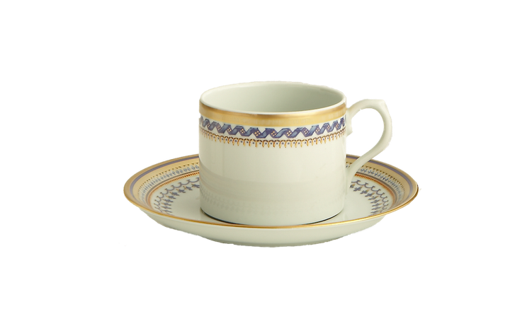 Chinoise Blue Tea Cup/Saucer