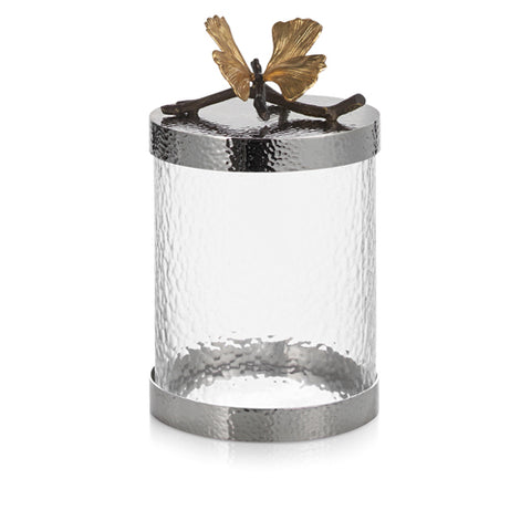 Butterfly Ginkgo Canister -Small
