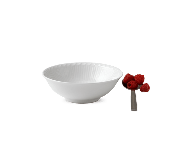 RC White Fluted Half Lace Cereal Bowl