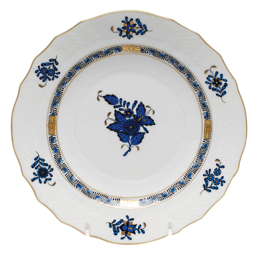 Chinese Bouquet Salad Plate Black Sapphire