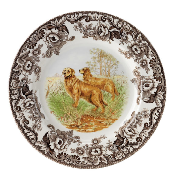 Woodland Salad Plate Golden Retriever
