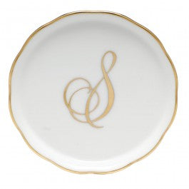 "Coaster With Monogram ""S"""