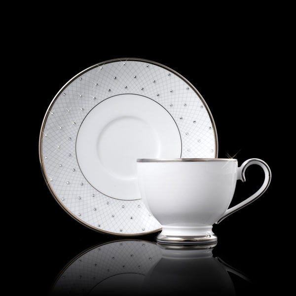 Prouna Princess Platinum Tea Cup/Saucer