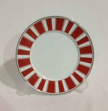 Sandwich Plate Red Stripes