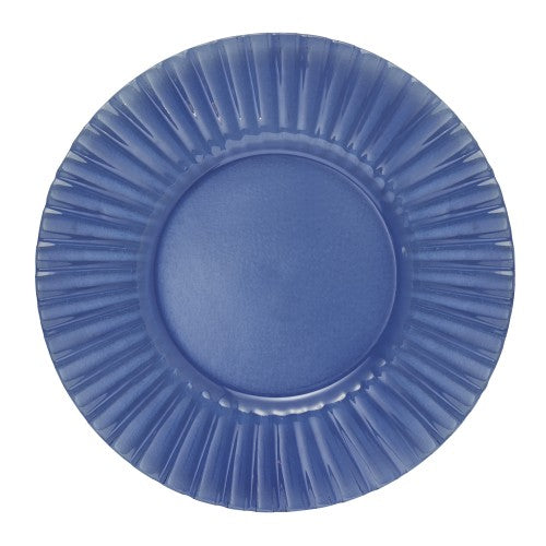 Burano Glass Charger Blue