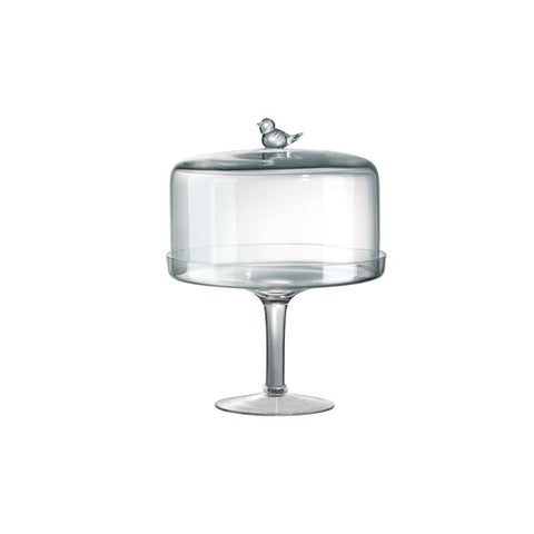 Lg Songbird Finial Cake Stand/Dome
