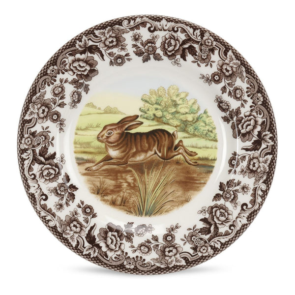 Woodland Salad Plate -Rabbit