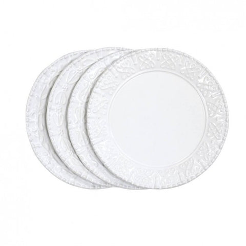 Historia Salad Plate Paperwhite Set of 4