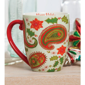 Holiday Flourish Ceramic Cup O Joe