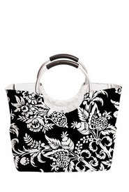 Tote with Medal Handles Black