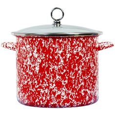 18 QT. Stock Pot -Red Swirl