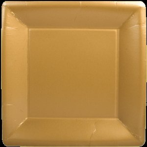 Square Dinner Plate-Solid Gold
