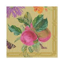 Decoupage Garden Gold Luncheon