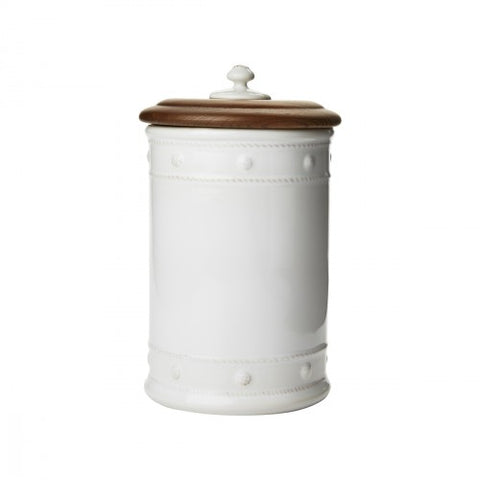 Berry & Thread Canister w/Wooden Lid -Med