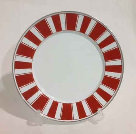 Dinner Plate Red Stripes