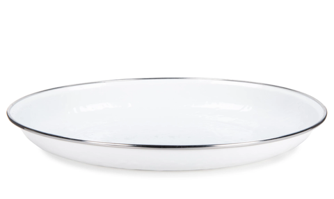 Pasta Plate Solid White