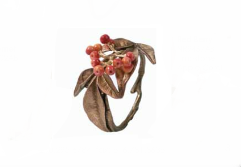 Napkin Ring Red Berry Set/4