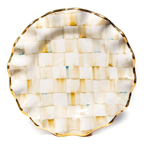 Parchment Ck Ceramic Fluted Dinner Plate