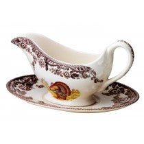 Woodland Sauce Boat & Stand -Turkey