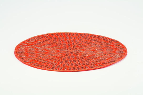 Orange Beaded Place Mat