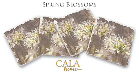 Spring Blossoms Coasters Set of 4