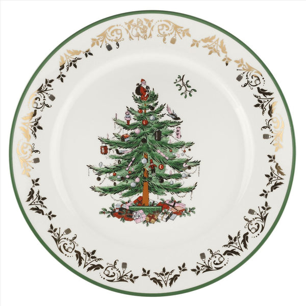 Christmas Tree Gold Collection Round Platter