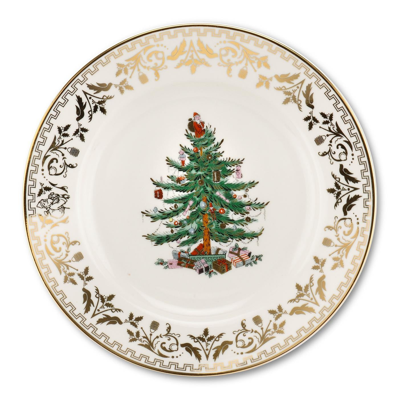 Christmas Tree Gold Collection Salad Plate