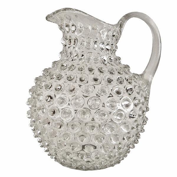 Hobnail Glass Pitcher Clear