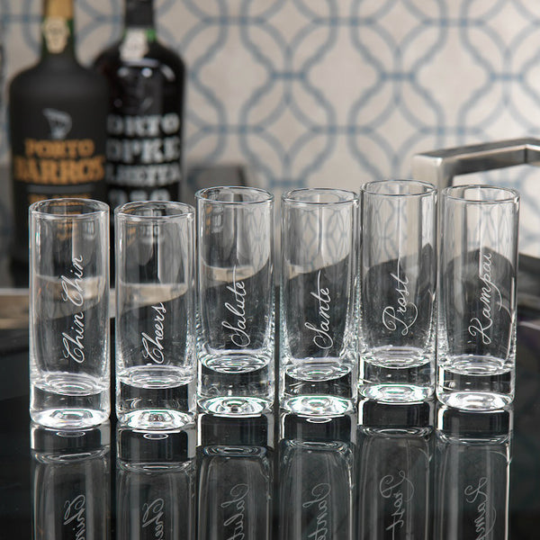 Asst Celebration Shot Glass Set of 6