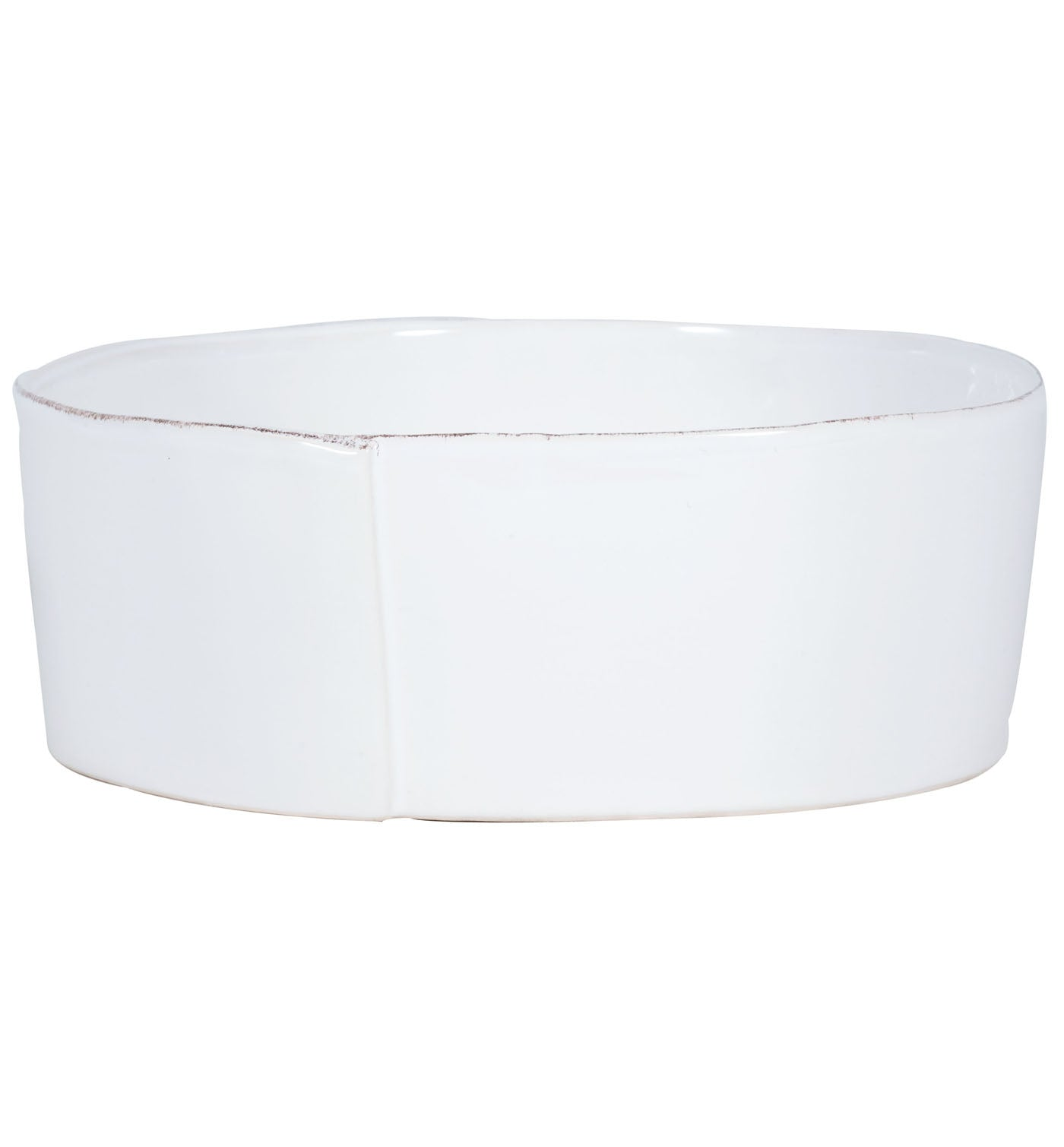 Lastra White Serving Bowl Lg