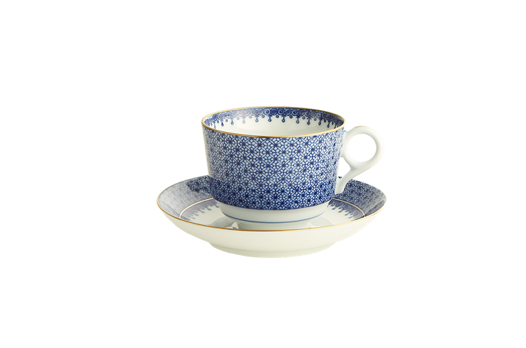 Blue Lace Tea Cup & Saucer
